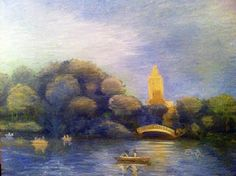 Painting - Late Sunday, Central Park by Louis Ebarb