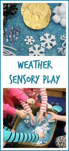 Preschool weather activities - weather sensory play