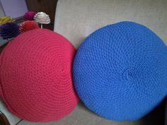 Round crochet pillow/pillow/cushion/handmade by AnuszkaDesign