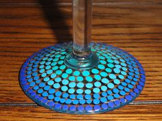 Ombre Blue Martini Glass Hand Painted by BeyondTheBarrel on Etsy, $12.00