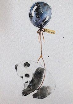 panda on a balloon