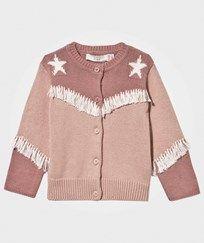 Stella McCartney Kids Lennie Baby Knit Cardigan Peony Peony