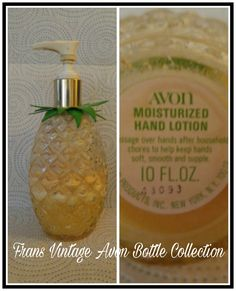 Vintage Avon Pineapple Moisturize Hand Lotion Clear Glass Bottle Decanter