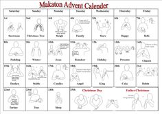 Printable Christmas Advent Calendar Makaton | Search Results ...