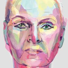 My digital #painting of #viviennewestwood - #fanart #digitalart #digitalpainting