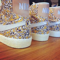 #Nike #Shoes,Print on one of my favourite types of sneaker: Nike SB Blazers