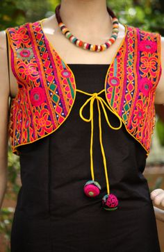 Kutch Embroidered Jacket | India1001.com