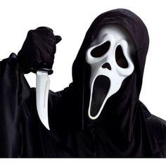 Ghost Face Mask with Knife Adult Halloween Accessory Costume Scream Movie creepy The Ghost Face Mask with Knife set makes for a quick and easy costume. It features one latex constructed ghost mask Halloween accessory packaged with a plastic knife. This adult Halloween face mask is ideal for trick or treating and festive Halloween parties. Ghost Face Mask with Knife Adult Halloween Accessory Party Occasions Halloween Halloween Accessories Halloween MasksThe Ghost Face Mask with Knife set…