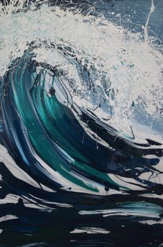 Some sweet, summer, beach vibes for that bare wall you've been stewing over ;) Stupendous- mixed media and resin on canvas by the talented Aussie Artist Annette Spinks. $2,450 available to buy: http://www.bluethumb.com.au/annettespinks/Artwork/Stupendous   #art #wave #beach #summer #design #interiordesign
