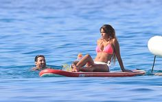 Lionel Messi, sa femme  Antonella Roccuzzo et leurs fils Thiago et Mateo en famille en vacances à Ib