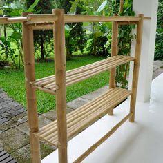 Furniture Freestanding Bamboo Shelf