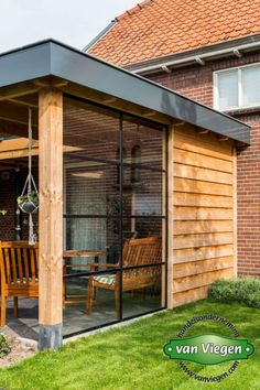 backyard designs – Gardening Ideas, Tips & Techniques Outdoor Garden Rooms, Outdoor Living Rooms, Porch Roof Design, Patio Design, Pergola With Roof, Pergola Patio, Patio Grande, Garden Room Extensions, House Extension Design