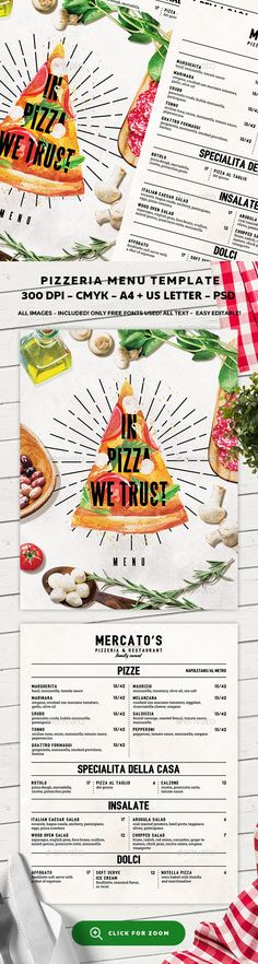 Buy Pizza Menu Template by BigWeek on GraphicRiver. File info:Pizzeria Food Menu Template and US Letter with bleed Mode: CMYK Files i. Restaurant Poster, Restaurant Menu Design, Restaurant Branding, Pizza Menu Design, Food Menu Design, Logo Pizzeria, Pizza Pizzeria, Menue Design, Pizza Branding