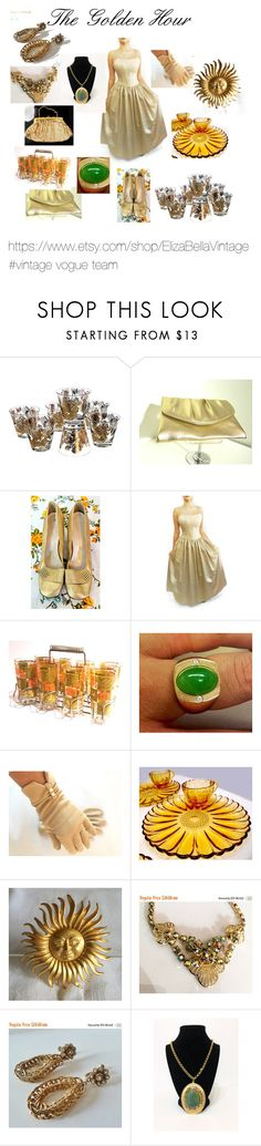 """""""The Golden Hour"""" by elizabellavintage ❤ liked on Polyvore featuring vintage, etsy and vintagevogueteam"""