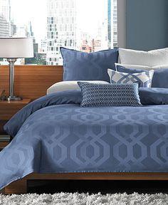 Hotel Collection Bedding, Modern Hexagon Queen Duvet Cover - Duvet Covers - Bed & Bath - Macy's