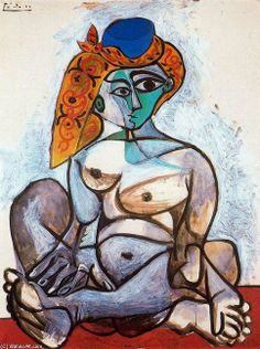 artist-picasso: Nude woman with turkish bonnet 1955 Pablo. Kunst Picasso, Art Picasso, Picasso Paintings, Henri Matisse, Photos Panoramiques, Romantic Drawing, Georges Braque, Expositions, Art Database
