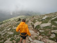 Peter O. running Baldy on a rare foggy summer day. #rei1440project.com