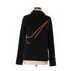 Pre-owned Nike Pullover Hoodie Size 8: Black Women's Tops ($19) ❤ liked on Polyvore featuring tops, hoodies, black, sweatshirt hoodies, nike top, sweater pullover, hooded pullover and hoodies pullover