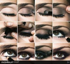 smokey eyes Love the step by step