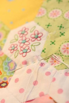 embroidery hexagons