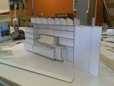 Modelo de mueble-muro para la Biblioteca de la ETSA