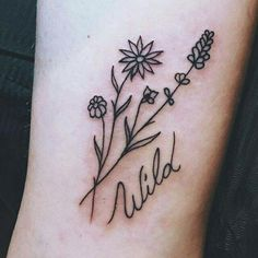 Find images and videos about tattoo, flowers and wild on We Heart It - the app to get lost in what you love.