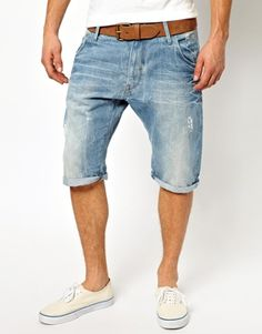G Star Denim Shorts Arc 3D Loose Tapered Light Aged