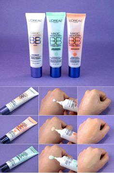 """L'Oreal Magic Skin Beautifier BB Cream in """"Light"""", """"Anti-redness"""" & """"Anti-fatigue"""": Comparison Review and Swatches"""