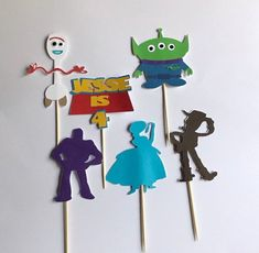 Excited to share this item from my shop: Toy Story 4 inspired cupcake toppers Forky cake topper, Toy story inspired birthday Baby Boy Birthday, Kids Birthday Cards, Toy Story Birthday, Toy Story Party, 4th Birthday Parties, Birthday Ideas, 5th Birthday, Dibujos Toy Story, Festa Toy Store