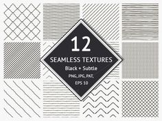 12 Seamless Textured Patterns by @Graphicsauthor