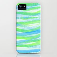 Green & Blue Ribbons iPhone & iPod Case by TheseRmyDesigns