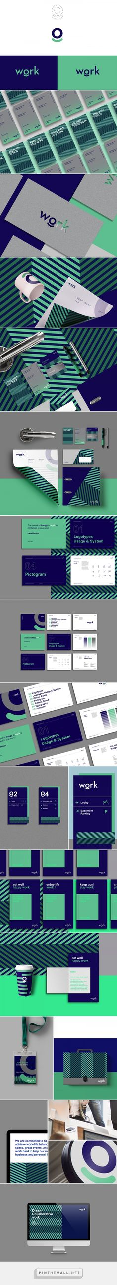 Work - Branding on Behance. Limited colour scheme of purple and green used with bold, clean logo type. 'o' is used as a device across other areas in the brand, along side the connective lines acting as a striking pattern. Corporate Identity Design, Brand Identity Design, Graphic Design Branding, Visual Identity, Brochure Design, Stationary Branding, Logo Branding, Stationery Design, Logo Inspiration