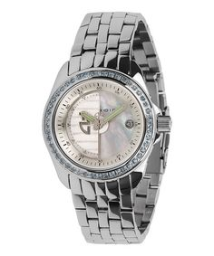 Topaz & Silver Rotator Bracelet Watch by ANDROID is perfect! #zulilyfinds