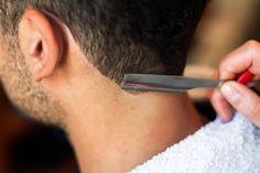Hairdresser shaving man's neck with a straight razor - stock photo Straight Razor, Yahoo Images, Hairdresser, Shaving, Image Search, Wordpress, Stock Photos, Barber, Barber Shop