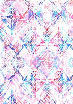 Ikat #5A Art Print by SchatziBrown #ikat
