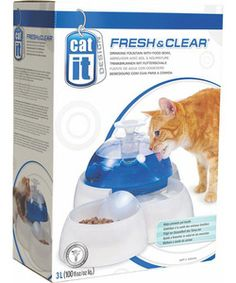 Catit Cat Drinking Fountain  Just recently bought this for my cat and he loves it. He now drinks a lot more water!