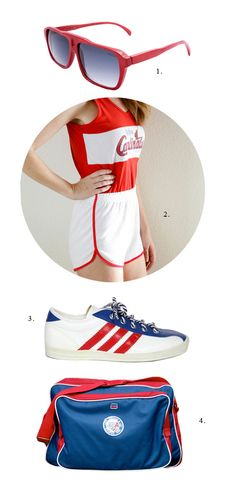 Style inspiration: 1970s runner. - im not a runner - but i heard cardinals and vintage...
