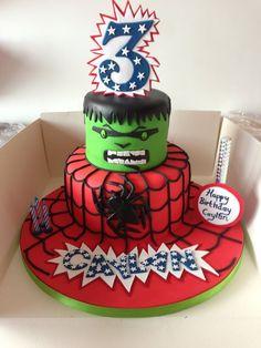 hulk and spiderman cakes | spiderman and hulk theme - by Donnajanecakes @ CakesDecor.com - cake ...