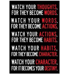 Watch Your Thoughts Motivational Poster 13 X 19Inch Decorative Poster Print Gift