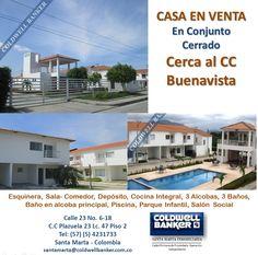 Casa En Venta en Conjunto Cerrado. #ventas #santamarta #inmobiliaria
