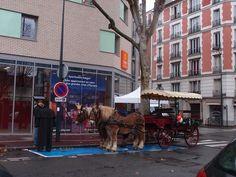 Comme à Bruges : Finalement j'aurais quand même eu ma petite bouffée de Belgique même si je n'en ai pas profité : un tour en calèche dans ma ville était possible en cette veille de Noël et sans doute vu l'emplacement de stationnement, aussi pour fêter l'ouverture de ce nouvel hôtel très grand. En 2013 ma vie aura beaucoup changé (de façon plutôt rude), mais également mon quartier