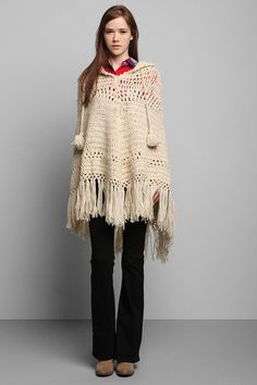 Vintage '70s Crocheted Poncho