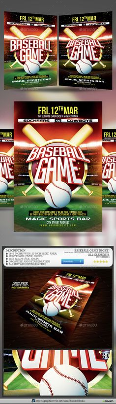 Fitness Training Center Sports Flyer Flyers, Fitness and Sports - baseball flyer