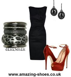 Lbd and hot red shoes