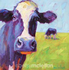 Cows Original Painting by betsymclellanstudio on Etsy