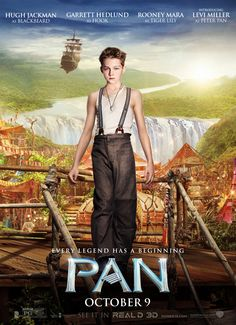 Let the journey begin! Here's a brand new poster for Pan, featuring Levi Miller.