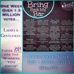 June 2015 bring back my bar BBMB Http://Kimdorsey.scentsy.us