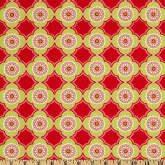 Michael+Miller+Christmas+Large+Flower+Doodle+Santa+Red from @fabricdotcom  Designed+by+Pillow+&+Maxfield+for+Michael+Miller+Fabrics.+This+fabric+is+perfect+for+quilting,+craft+projects,+apparel+and+home+decor+accents.+Colors+include+lime+green,+red,+hot+pink+and+white.