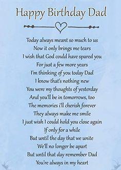 Birthday Poems For Dad, Birthday In Heaven Poem, Fathers Day In Heaven, Happy Fathers Day Dad, Happy Birthday Dad, Birthday Quotes, Birthday Wishes, Brother Birthday, Birthday Cards