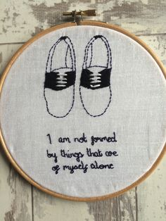 """India Stoker Quote """"I Am Not Formed By Things That Are..."""" Embroidery by SoLongMySweetLime on Etsy"""